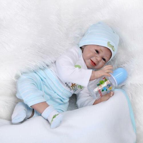 NPK Reborn Realistic Baby 22'' Vinyl Silicone Newborn Boy