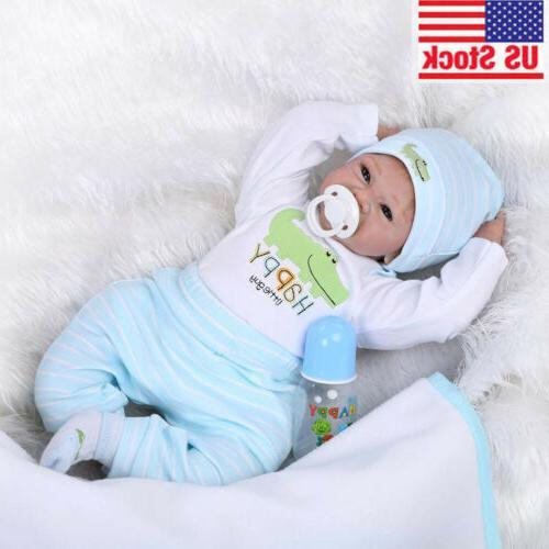 22 reborn realistic baby doll silicone vinyl