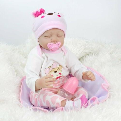 "Reborn Baby Dolls 22""Handmade Newborn Vinyl Silicone Girl Do"