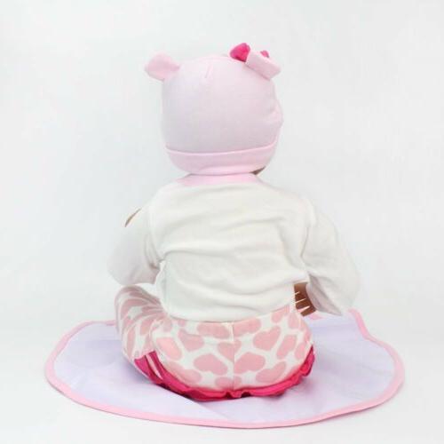 22' Twins Dolls Newborn Babies Silicone Handmad