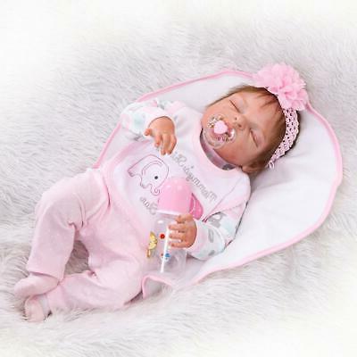 22inch Reborn Baby Dolls Realistic Newborn Lifelike Pink