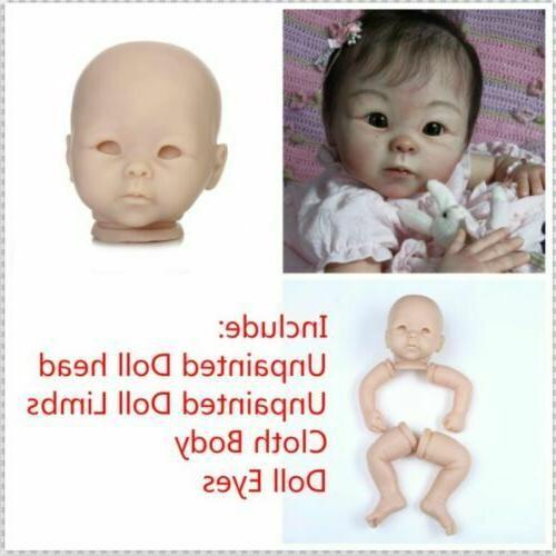 22inch Reborn Baby Dolls Unpainted Kits Dolls Making Supplie