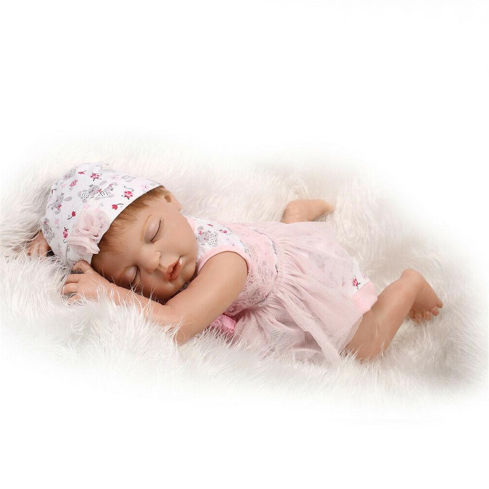 "Baby Reborn Dolls Full Body Silicone Vinyl 23"" Rebon Toddler"