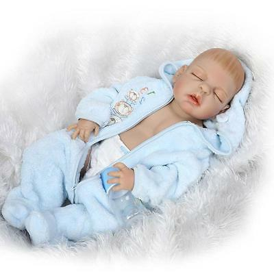 "23"" Handmade Lifelike Reborn Newborn Baby Doll Full Silicone"