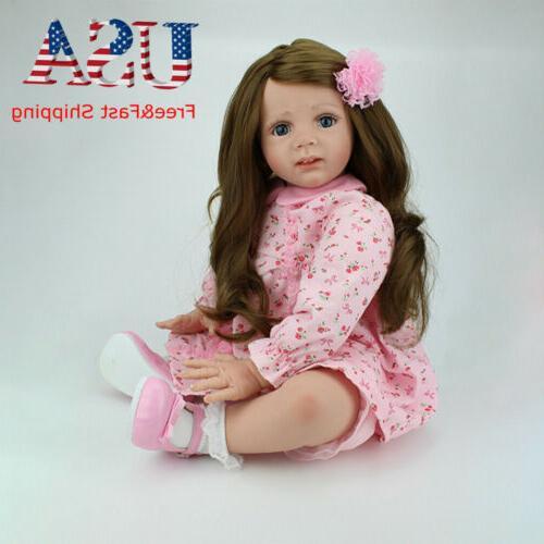 24 Toddler Reborn Baby Silicone Newborn Xmas Gift