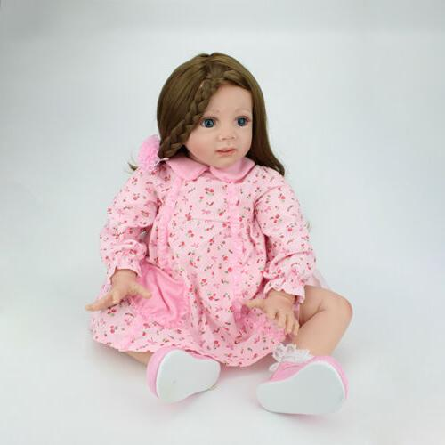 24 inch Toddler Reborn Baby Silicone Doll Xmas Gift