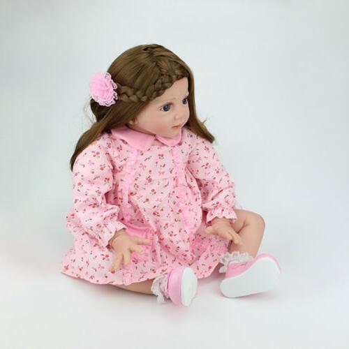 24 inch Reborn Baby Dolls Silicone Newborn Doll Xmas Gift