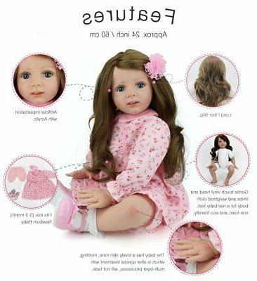 "24"" Reborn Dolls Princess Toddler Handmade US"