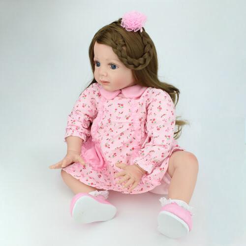 24 inch Toddler Reborn Baby Silicone Newborn Gift