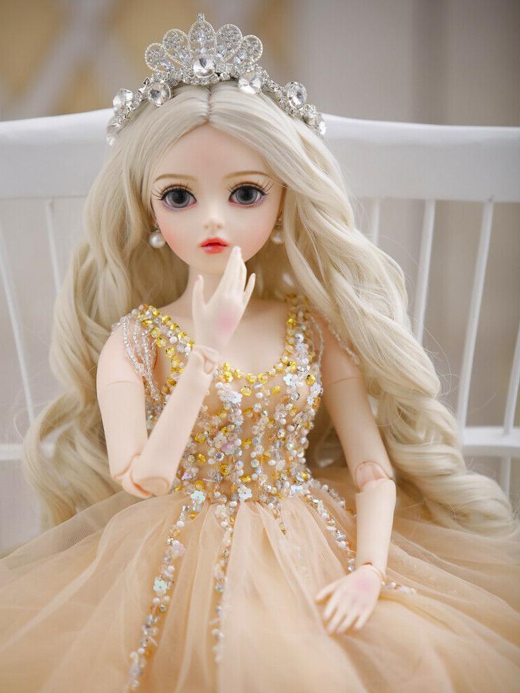 "24"" New 1/3 Handmade PVC BJD MSD Lifelike Dolls Joint Dolls"