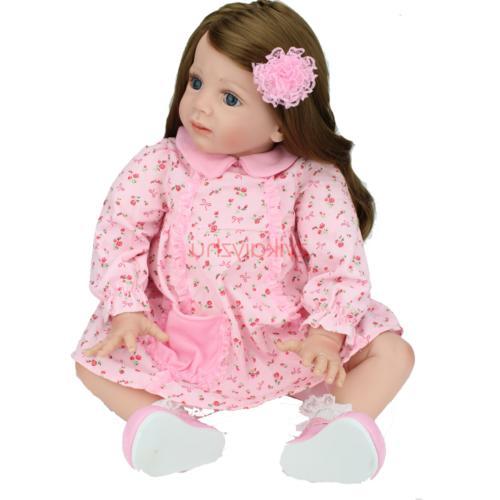 "24""Reborn Baby Dolls Handmade Toddler Vinyl Silicone Baby Do"