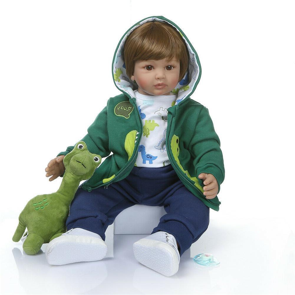 "16"" Life-Like Soft Silicone Baby Newborn Dolls Handmade Gift"