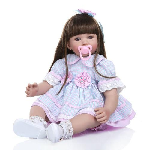 25'' Reborn Newborn Dolls Toys Realistic Silicone Baby Toddl
