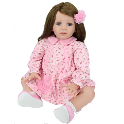 "24"" Toddler Dolls Handmade Soft Vinyl Silicone Doll Gifts"