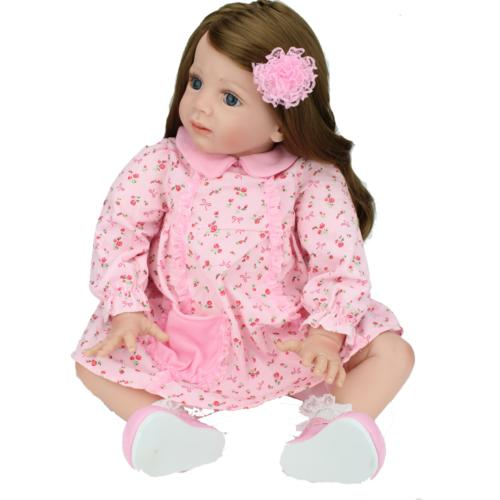 """24"""" Toddler Dolls Handmade Soft Silicone Baby Toy"""