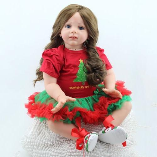 "24"" Toddler Reborn Baby Dolls Handmade Vinyl Newborn Xmas Gift"