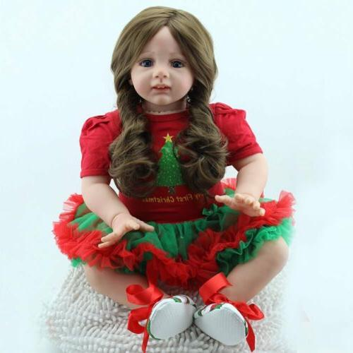 "24"" Toddler Dolls Silicone Newborn"