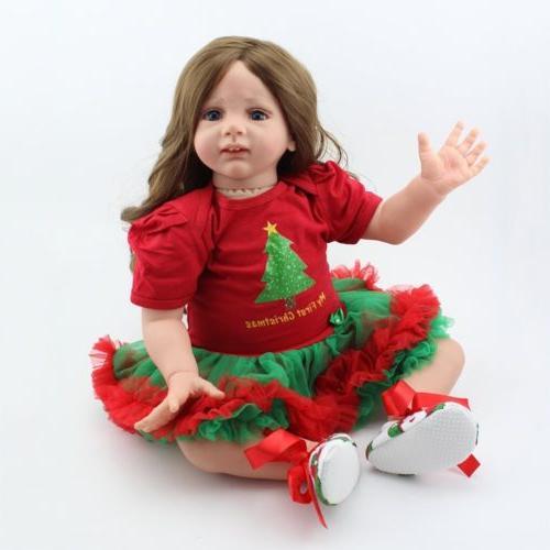 "24"" Reborn Dolls Handmade Silicone Newborn Doll"