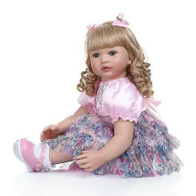Reborn Baby Dolls 24 inch 60cm Handmade Soft Silicone Vinyl