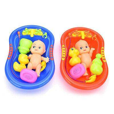 5x baby doll in bath tubs withduck