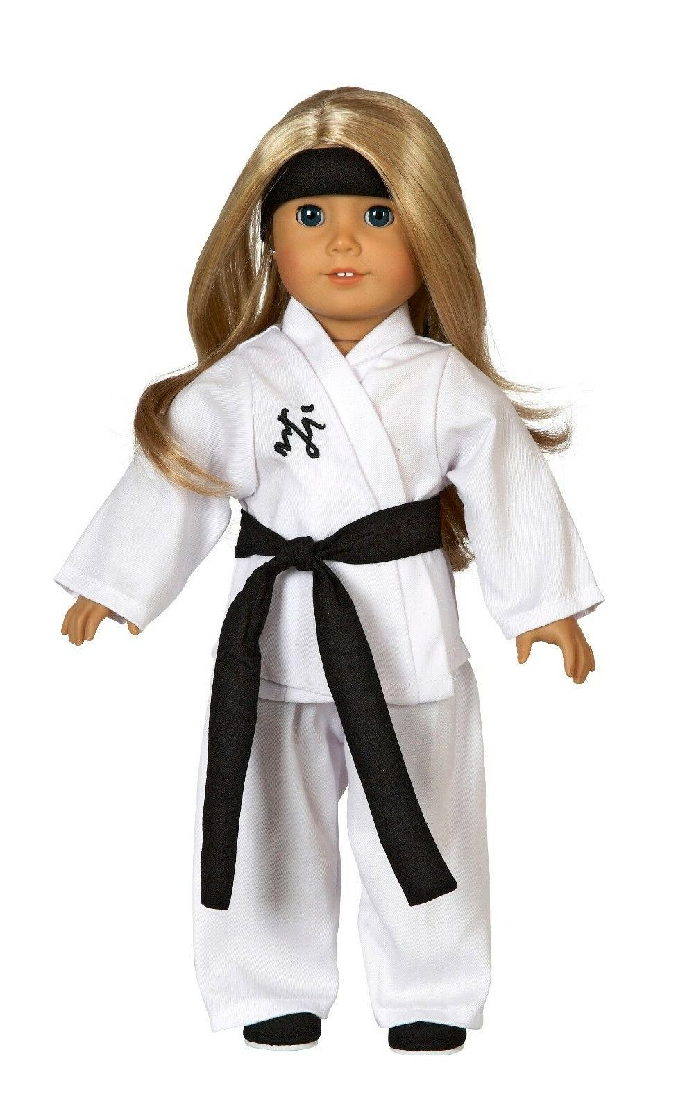 6 pc karate costume for 18