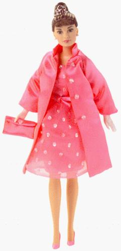Barbie Audrey Hepburn in Breakfast at Tiffany's Pink Princes