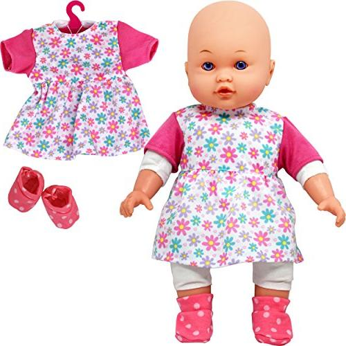 Doll Baby Doll with Complete Outfits and Accessories, Blocks, Shoes