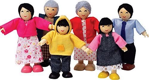 Hape Asian Wooden Doll House Family Set