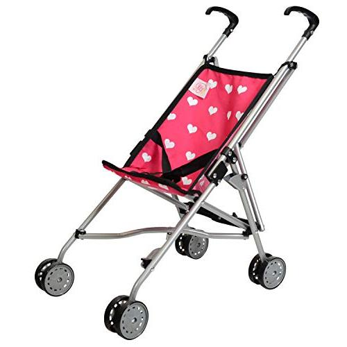 Hearts My First Doll Stroller for Kids - Super Cute Doll Str