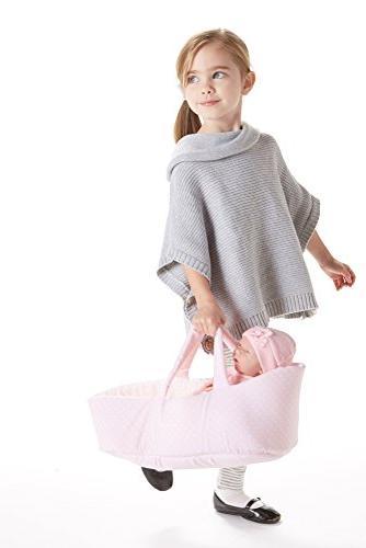 "JC Baby Doll Fabric Basket & 15.5"""