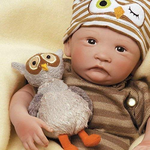 Paradise Galleries Baby Doll That Like 16 inch Vinyl, Reborn Boy, Tested for Kids 6-Piece Set