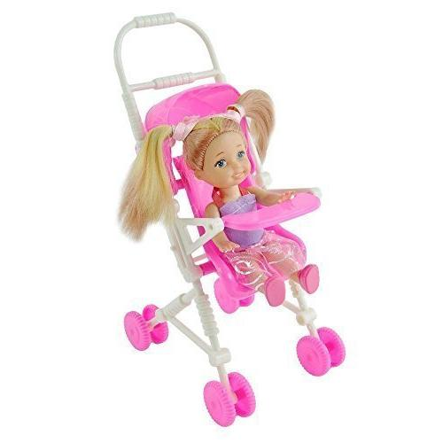 Qiyun Baby Infant Carriage Stroller For Kelly Doll Barbie Pl
