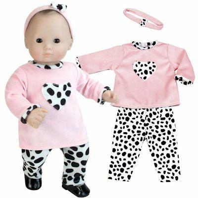 Sophia's 15 inch doll Clothing 3 Pc. Set of Pink and Dalmati