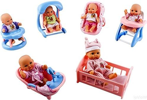 WolVol Mini Dolls for with Walker, seat