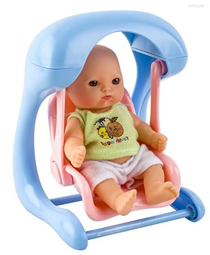 WolVol Set Mini for Girls with Cradle, Chair, seat