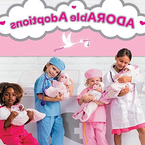 Adora Adoption 16 Inch Newborn Soft Body Doll Toy Gift Close Brown Eyes 3 Year kids and