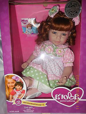 adora charisma 20 baby doll brunette hair