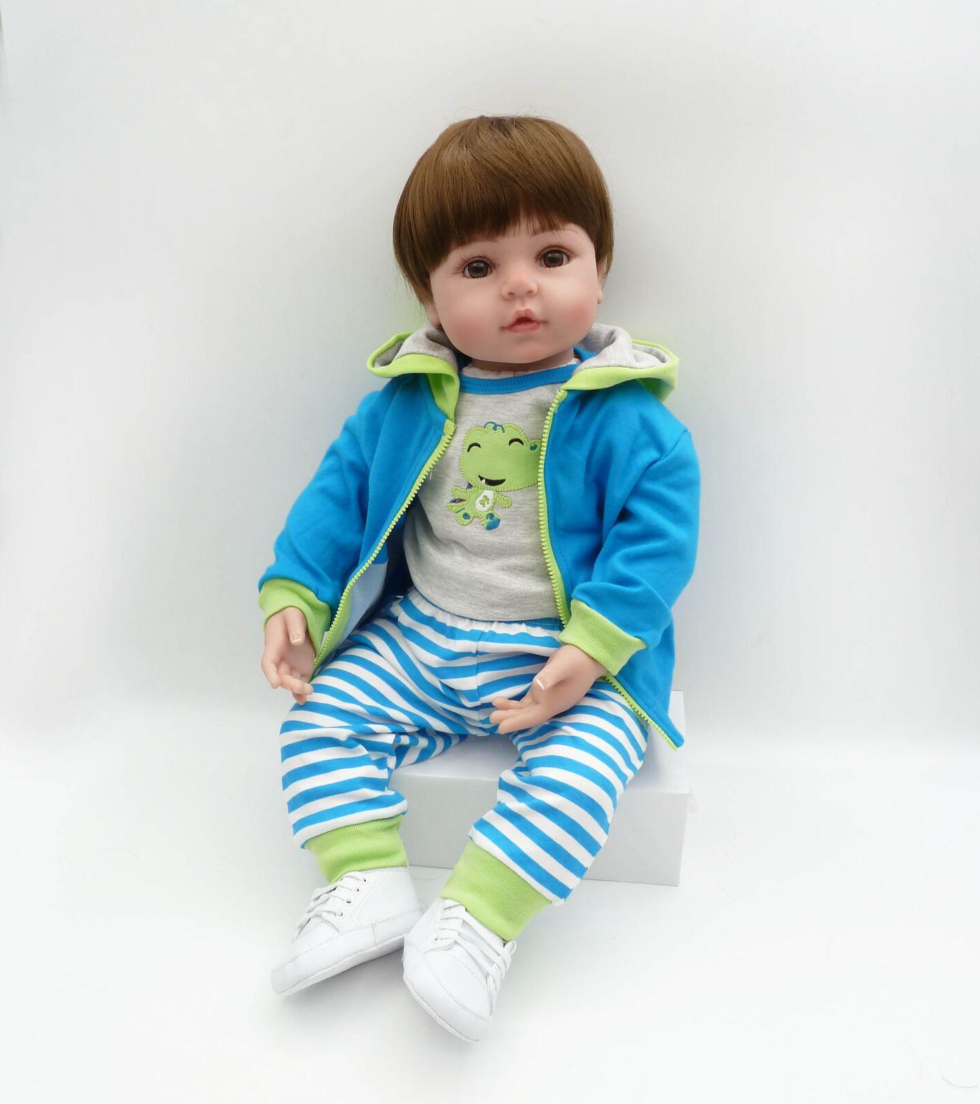 Reborn Toddler Doll Boy 24inch Soft Silicone Reborn Boy Doll