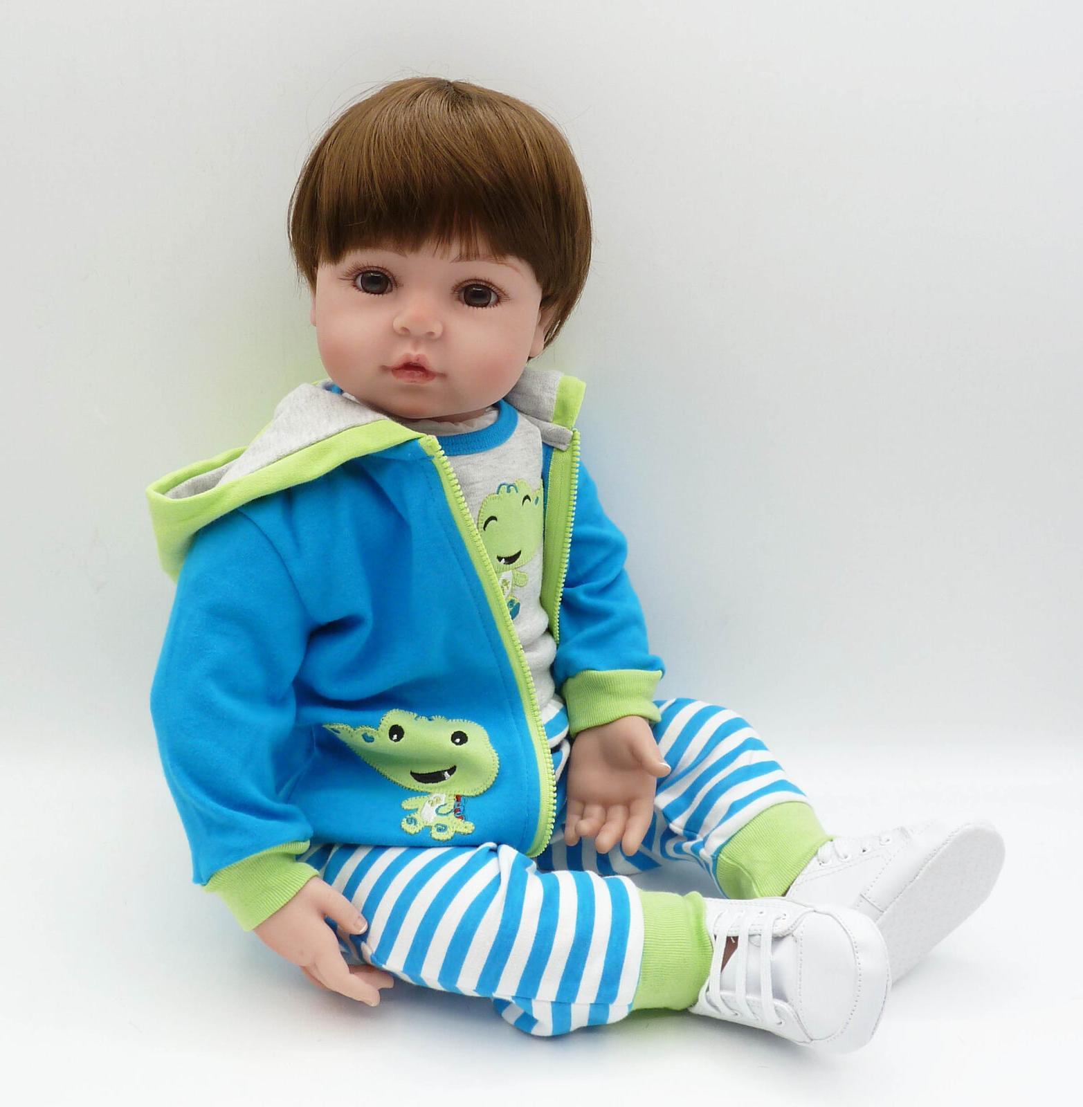 "24"" Icradle Reborn Toddler Boy Realistic Newborn Reborn Baby"