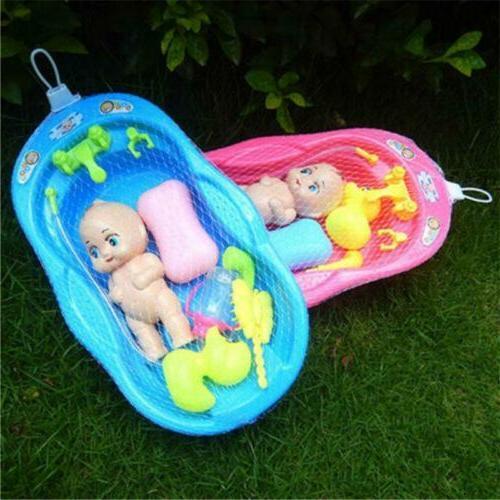 Baby Dolls Play Toy Bath Tub Bath Time Kids Pretend Parent W