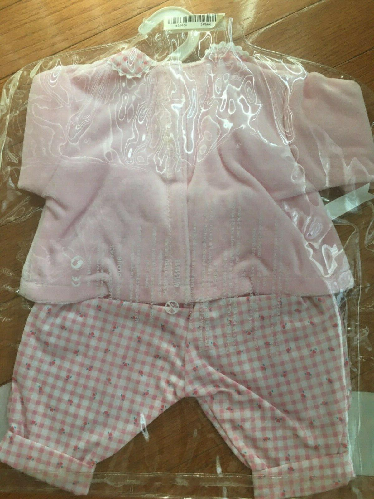 Corolle Pink Gingham Pants Set inches NWT