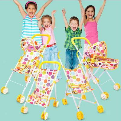 Baby Stroller Foldable Pushchair Kids Gift Pretend Role