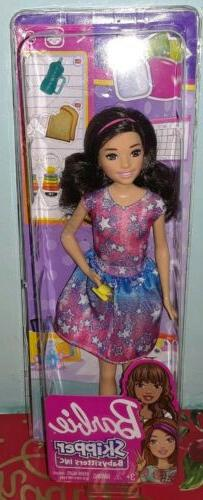 babysitting skipper doll brunette with phone