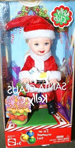 Barbie Kelly Club Santa Claus Kelly doll ornament too