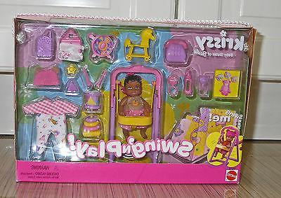 NEW Mattel Barbie Krissy AA Swing'n Play Playset Baby Doll 2