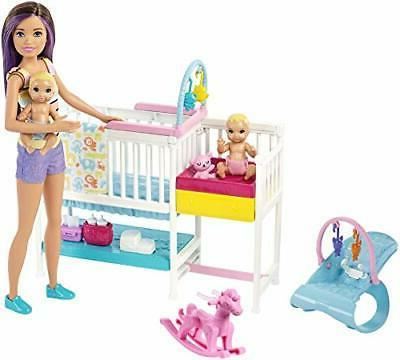 Barbie Nursery Playset with Skipper Babysitters Inc. Doll, 2
