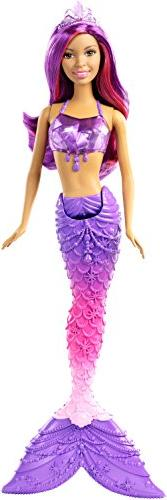 Barbie Princess Mermaid Gem Fashion Purple Hair Doll  Africa