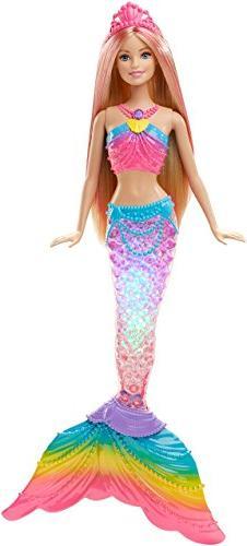Barbie Rainbow Lights Mermaid Doll with Mermaid Tail Glimmer