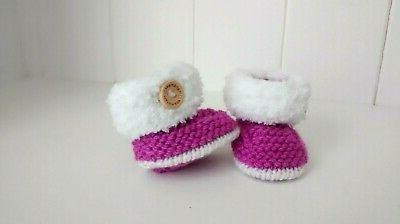 "❤ BABY 15"" HAND KNITTED UGG BOOTS"
