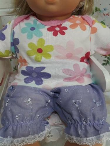 Bitty baby outfit,blouse and headband.handmade